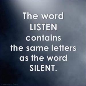 Clip listen words as silent